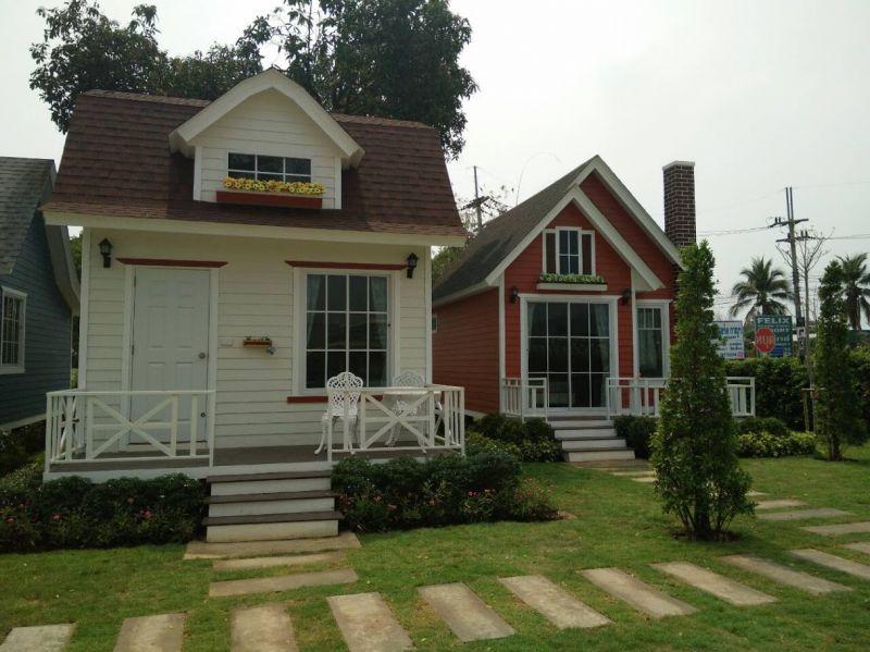 บ้านน็อคดาวน์ สวยสดใส สไตล์ โมเดิร์น ขนาด 4 x 7 ตารางเมตร