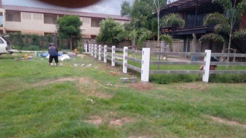 ผลงานติดตั้ง รั้วคาวบอย 3 ชั้น ณ บ้านโป่ง จ.ราชบุรี @5 ส.ค. 59