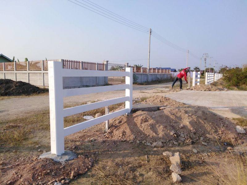 ผลงานติดตั้ง รั้วคาวบอย 4 ชั้น ต.บ้านแหลม อ.บ้านแหลม จ.เพชรบุรี - 12 ก.พ. 62