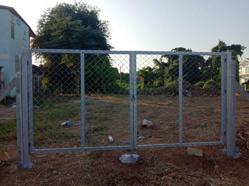 ผลงานติดตั้ง ประตูรั้วตาข่ายถัก ต.ในเมือง อ.เมือง จ.พิษณุโลก - 13 พ.ย. 62