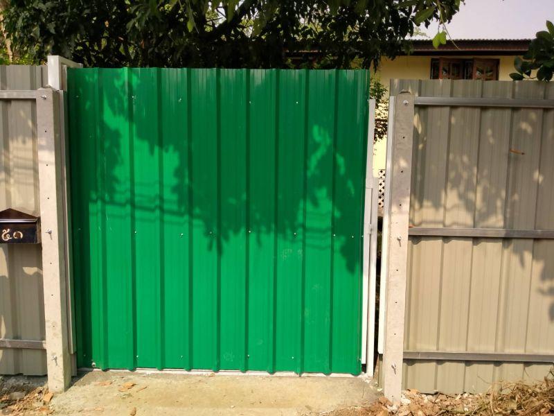 ผลงานติดตั้ง ประตูรั้วเมทัลชีท แขวง บางอ้อ เขต บางพลัด จ.กรุงเทพมหานคร - 2 ก.พ. 63