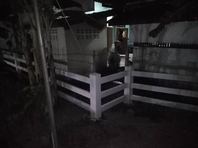 ผลงานติดตั้ง รั้วคาวบอย 3 ชั้น ต.บ้านสิงห์ อ.โพธาราม จ.ราชบุรี - 13 ก.พ. 63