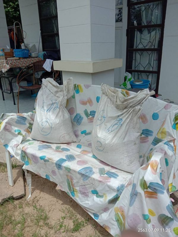 จัดส่ง ทราย 2 ถุง ต.ลาดสวาย อ.ลำลูกกา จ.ปทุมธานี - 9 ก.ค. 63