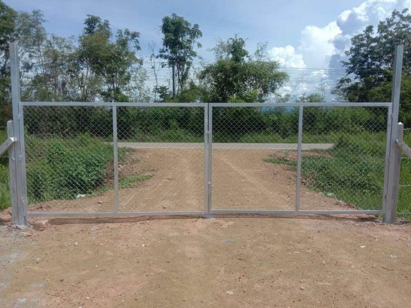 ผลงานติดตั้ง ประตูรั้วตาข่ายถัก ต.อ่างหิน อ.ปากท่อ จ.ราชบุรี - 20 ก.ค. 63