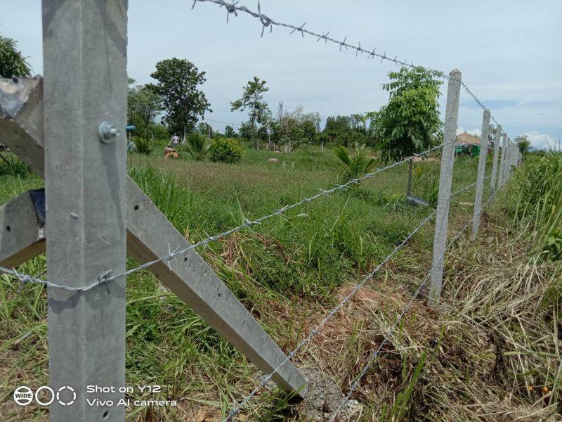 ผลงานติดตั้ง รั้วลวดหนาม อ.ปากท่อ จ.ราชบุรี - 24 ก.ค. 63