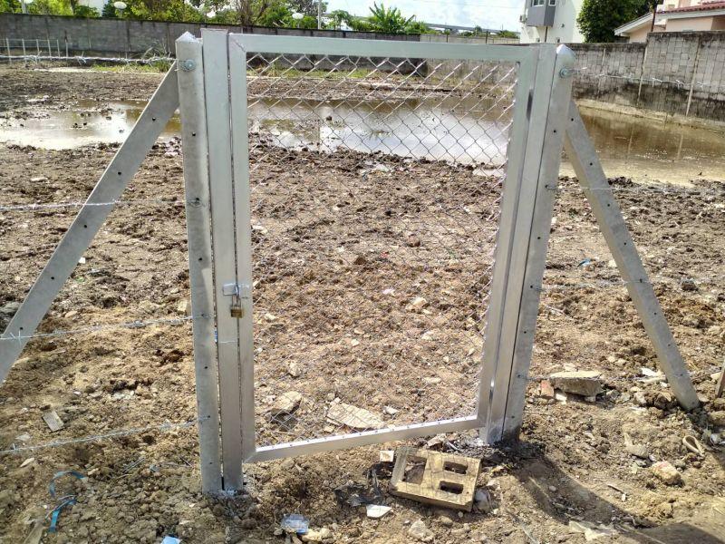 ผลงานติดตั้ง ประตูรั้วตาข่ายถัก อ.เมือง.จ.นนทบุรี - 8 ก.ย. 63