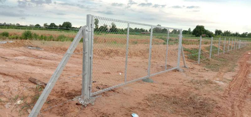 ผลงานติดตั้ง ประตูรั้วตาข่ายถัก ต.บ้านค้อ อ.เมือง จ.ขอนแก่น - 14 ก.ย. 63