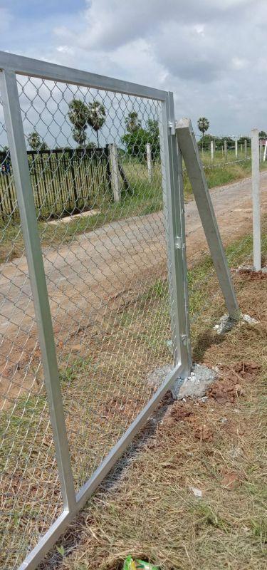 ผลงานติดตั้ง ประตูรั้วตาข่ายถัก ต.พลับพลาไชย อ.อู่ทอง จ.สุพรรณบุรี - 12 ต.ค. 63