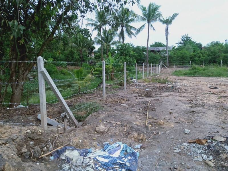 ผลงานติดตั้ง รั้วลวดหนาม ต.สวนแตง อ.เมือง จ.สุพรรณบุรี - 13 ต.ค. 63