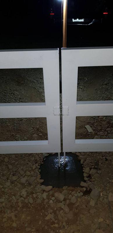 ผลงานติดตั้ง ประตูรั้วคาวบอย อ.มะขาม จ.จันทบุรี - 18 ธ.ค. 63