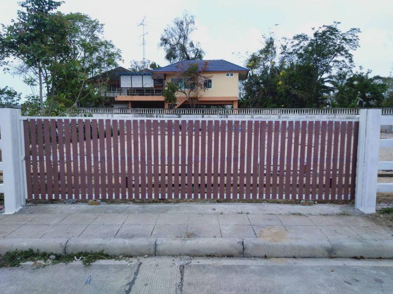 ผลงานติดตั้ง ประตูรั้วคาวบอย ต.เสม็ด อ.เมือง จ.ชลบุรี - 9 มี.ค. 64