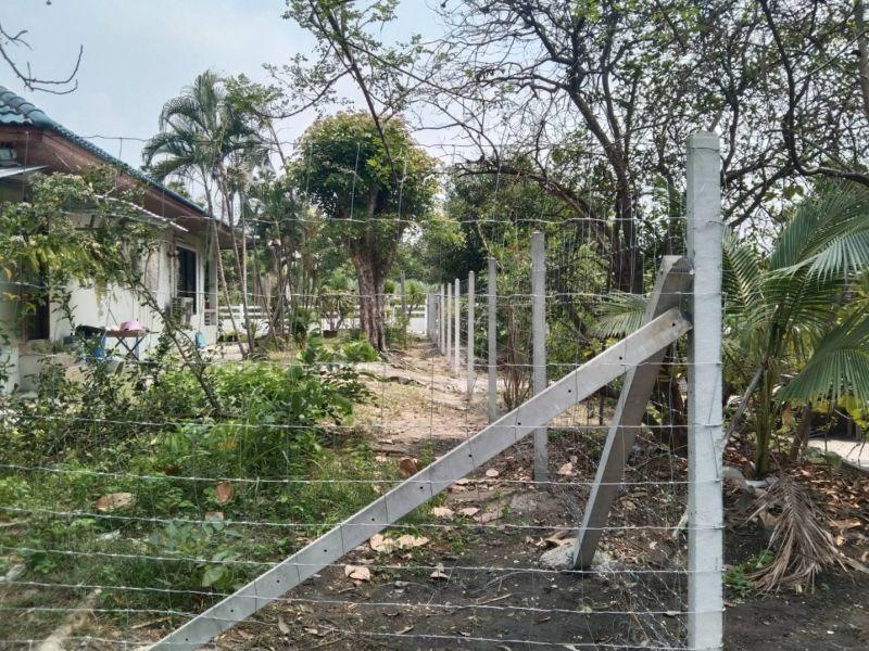 ผลงานติดตั้ง รั้วตาข่ายแรงดึง ต.บ้านสวน อ.เมือง จ.ชลบุรี - 15 มี.ค. 64