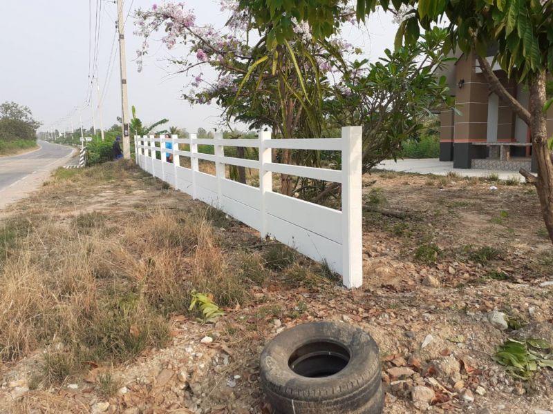 ผลงานติดตั้ง รั้วคาวบอย 4 ชั้น (ทึบล่าง) อ.เลาขวัญ จ.กาญจนบุรี - 17 มี.ค. 64