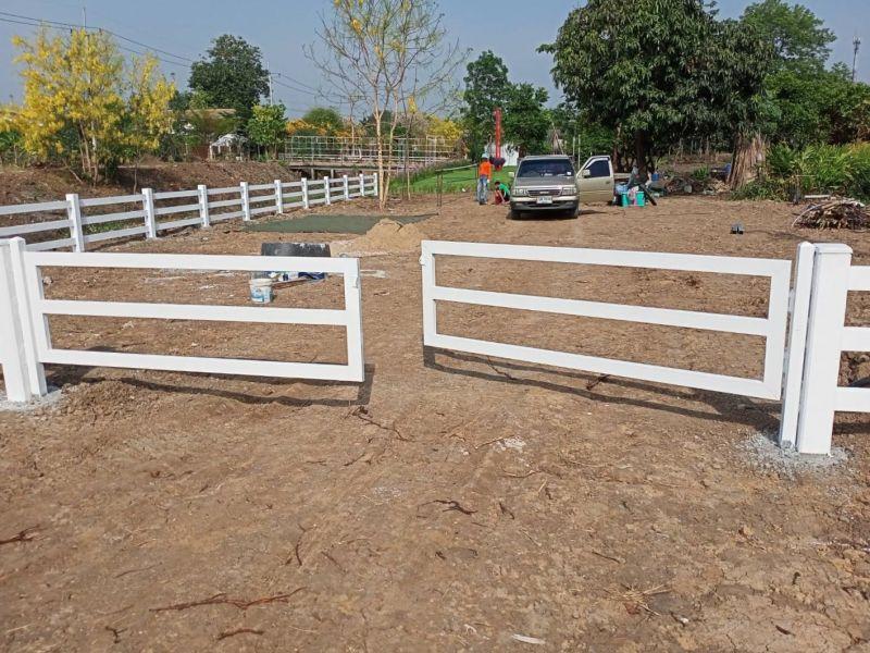 ผลงานติดตั้ง ประตูรั้วคาวบอย ต.พังตรุ อ.พนมทวน จ.กาญจนบุรี - 2 เม.ย. 64