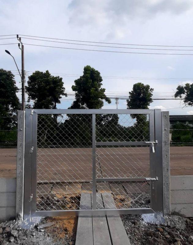 ผลงานติดตั้ง ประตูรั้วตาข่ายถัก เขต มีนบุรี กรุงเทพมหานคร - 20 พ.ค. 64