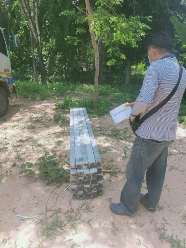 จัดส่ง เสารั้วอัดแรง ต.หัวช้าง อ.จตุรพักตรพิมาน จ.ร้อยเอ็ด - 22 มิ.ย. 64