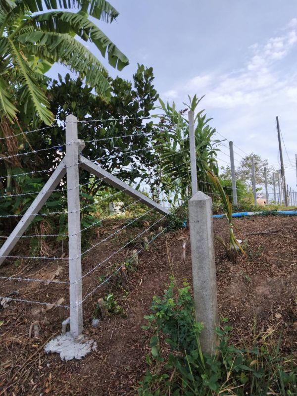 ผลงานติดตั้ง รั้วลวดหนาม อ.เมือง จ.สุพรรณบุรี - 24 ส.ค. 64