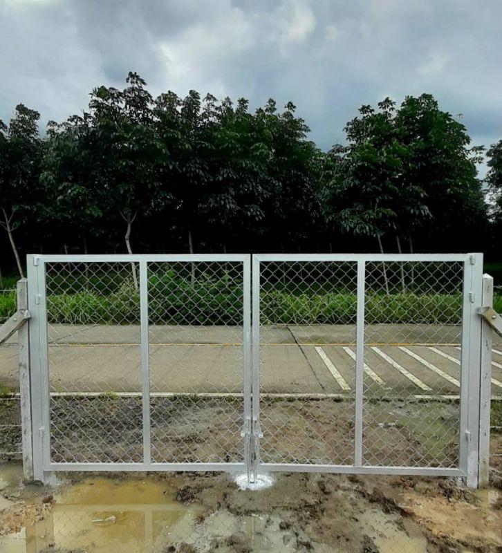 ผลงานติดตั้ง ประตูรั้วตาข่ายถัก อ.หนองใหญ่ จ.ชลบุรี - 4 ก.ย. 64