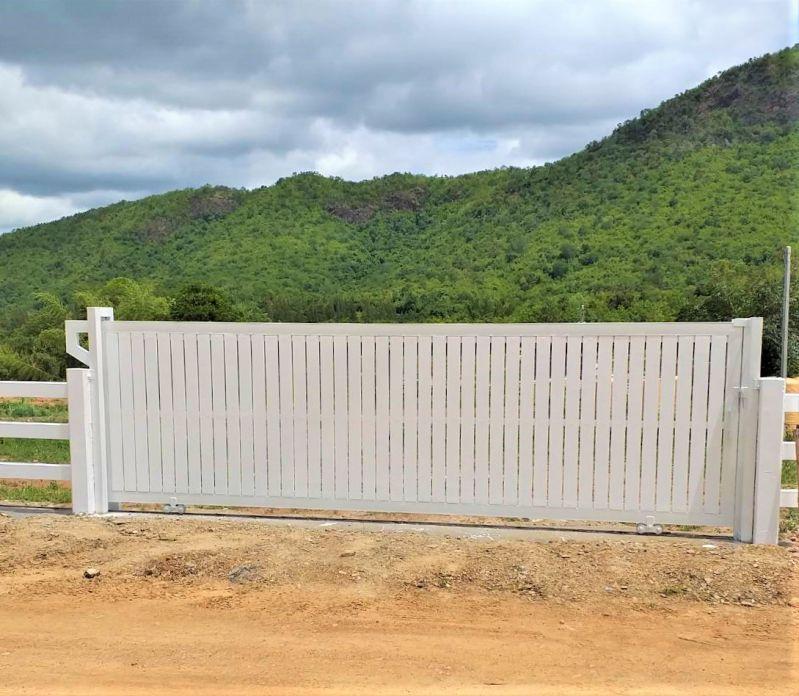 ผลงานติดตั้ง ประตูรั้วคาวบอย อ.สวนผึ้ง จ.ราชบุรี - 24 ก.ย. 64